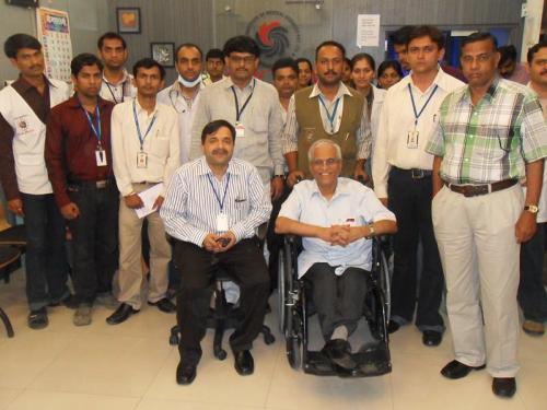 With Dr. Suresh Advani Sir at United CIIGMA Hospital.